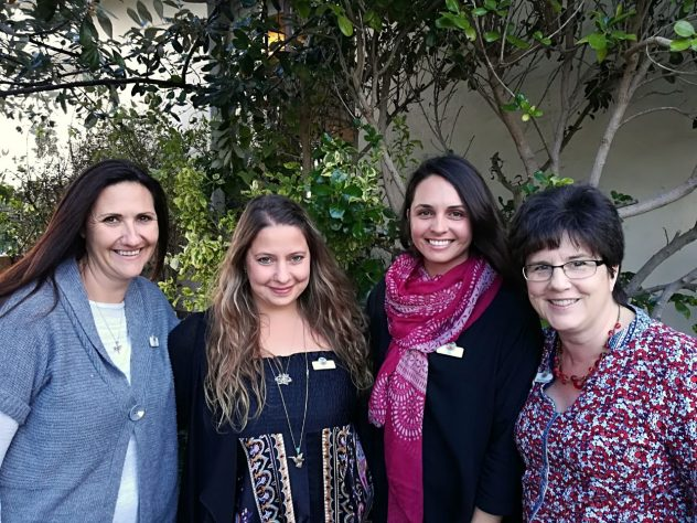 From Right: Doulas Sherelle Hamman, Charlene Yared West, Sian Williams and Midwife Angela Wakeford